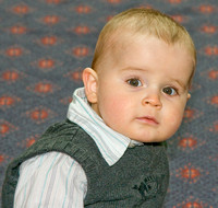 Harrison at his christening